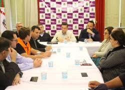 Gabinete de crise apresenta ações durante a redução do abastecimento em Bento