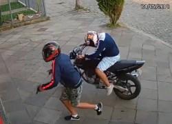 Polícia Civil divulga imagens de assalto no bairro São João em Bento