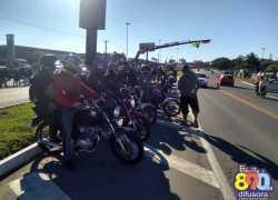 Motociclistas sem juntam a motoristas em manifesto na BR-470 em Garibaldi