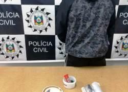 Suspeito de tráfico de drogas é preso em Vacaria
