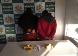 Brigada apreende mais de um quilo de maconha em Guaporé