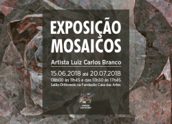 """Casa das Artes sedia exposição artística """"Mosaicos"""" em Bento"""