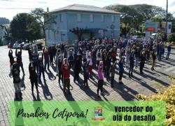 Município de Cotiporã vence o Dia do Desafio
