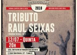 Na semana do Rock, Casa das Artes de Bento recebe tributo a Raul Seixas