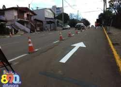 Alteração no trânsito no bairro Licorsul em Bento