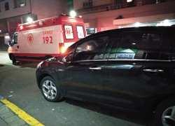 Jovem fica ferida em acidente no centro de Bento