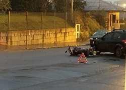 Motociclista fica ferido em acidente no São Roque em Bento