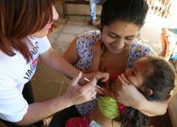 Na primeira semana da campanha, 10% das crianças se vacinaram contra pólio e sarampo