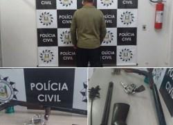 Polícia Civil prende homem, apreende armas a munições em Farroupilha
