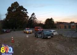 Homem morre e duas pessoas ficam feridas em acidente na Rota do Sol em Garibaldi