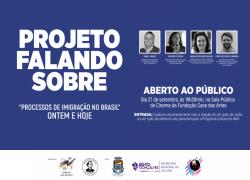 """Projeto Falando Sobre abordará """"Processos de Imigração no Brasil"""", dia 27 em Bento"""