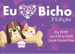 3º Eu Amo Bicho reúne feirinha de adoção e entretenimento em Bento