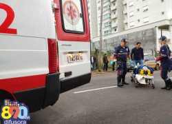 Idosa e criança ficam feridos em atropelamento no trânsito de Bento