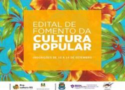 Prazo de inscrições de projetos para o edital de Fomento da Cultura Popular é de 10 a 14 de setembro em Bento