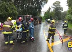 PRF divulga nota de agradecimento a profissionais que trabalharam em resgate de vítimas na BR 470 em Veranópolis