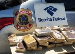 PF apreende 27 kg de cocaína na fronteira do Brasil com o Uruguai