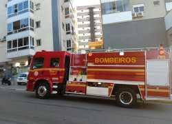 Princípio de incêndio é registrado no bairro São Roque, em Bento