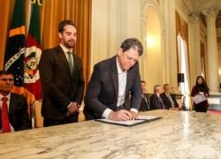Estado assina contrato de concessão de rodovias, que receberão novas Praças de Pedágios