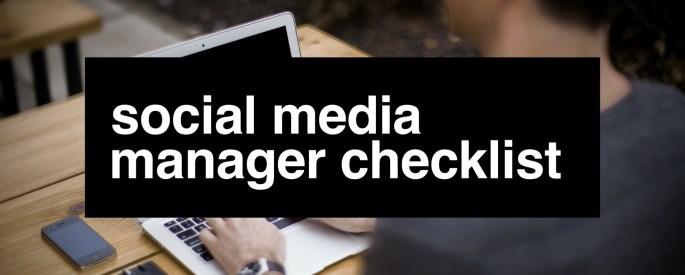 Social Media Manager Checklist Cover