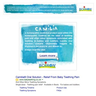 Display and Search Advertising adwords campaign, Camilia