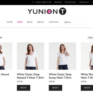 E-shop web design and E-commerce for a luxury fashion brand, YUNIONT