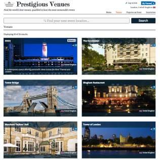 Hotel Marketing, Prestigious Venues