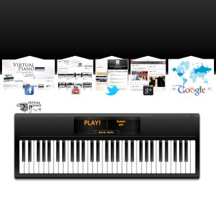 Social Media for online piano app, Virtual Piano