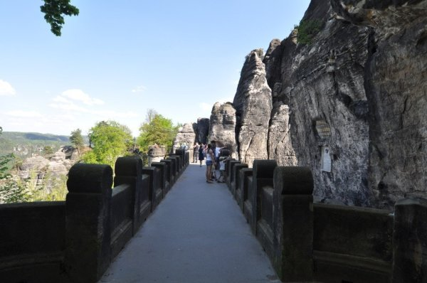 Entrance to the Bastei Bridge in Saxon Switzerland