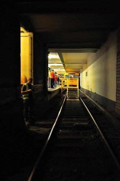 Ende des U6 U-Bahn Tunnels richtung Französische Straße
