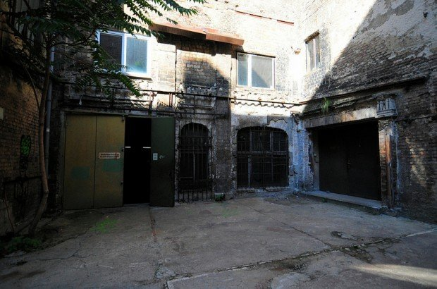 Inside the courtyard with the view of the Stage and Cellar entrance