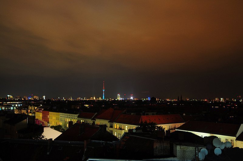 Night View over Berlin from the Neukölln Arcaden