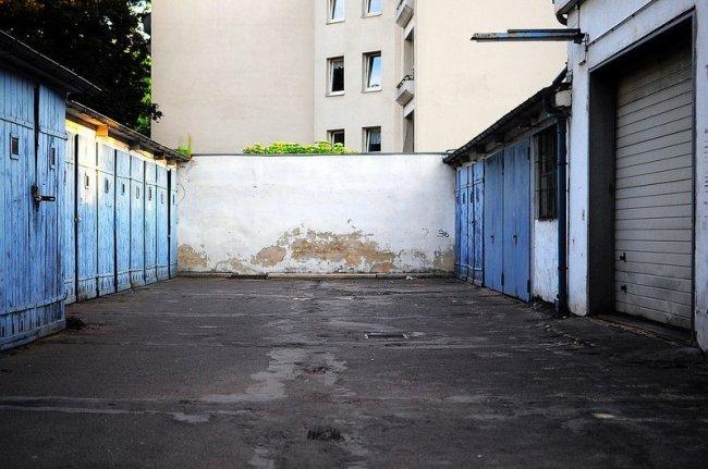 courtyard garage abandoned gas station berlin