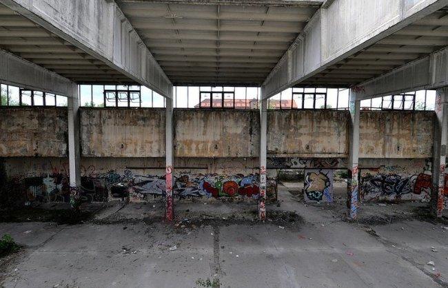 empty factory hall