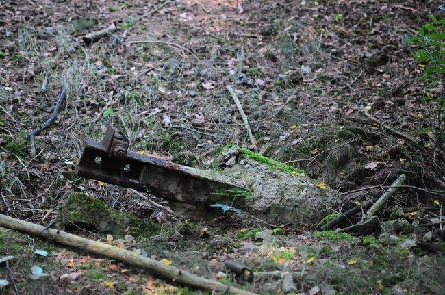 abandoned railway scrap metal