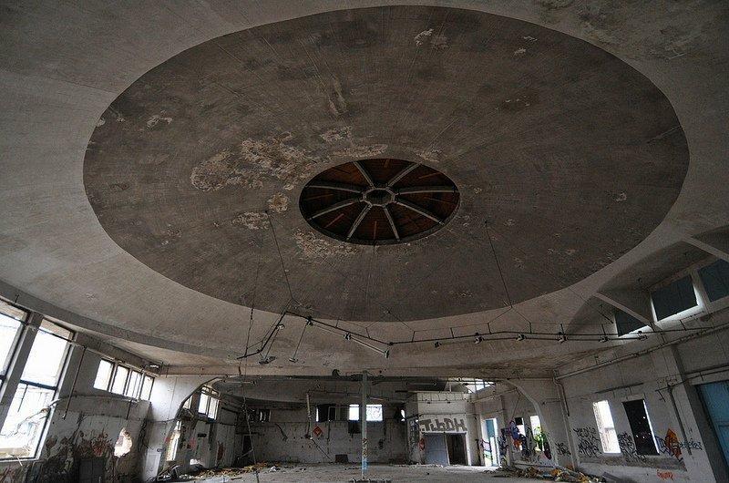 domed aircraft hangar karlshorst