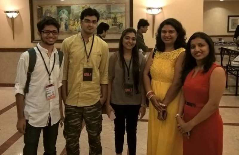 At a Blogging conference in Mumbai