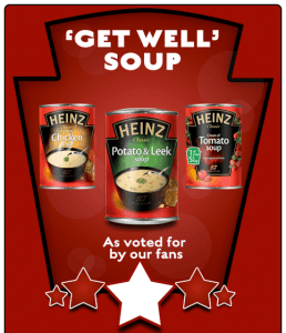 Soups offered in the Get Well campaign