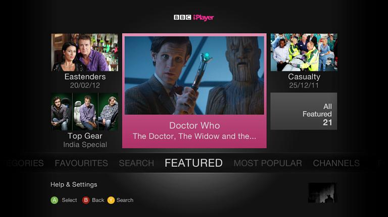 iPlayer available on Xbox 360 from today  free for all users BBC iPlayer on the Xbox 360