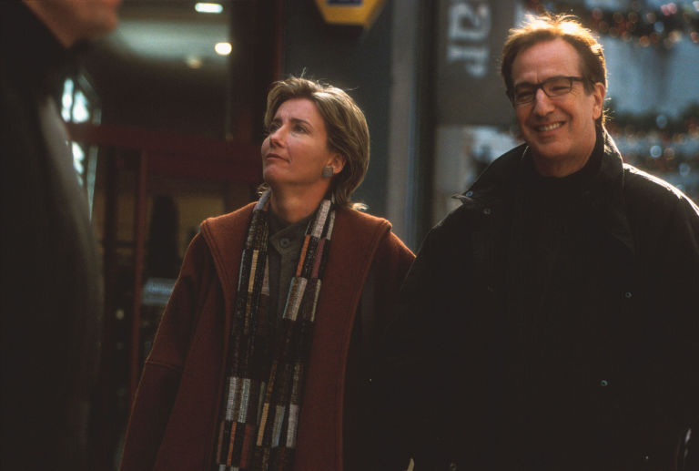 Emma Thompson and Alan Rickman in Love Actually (2003)