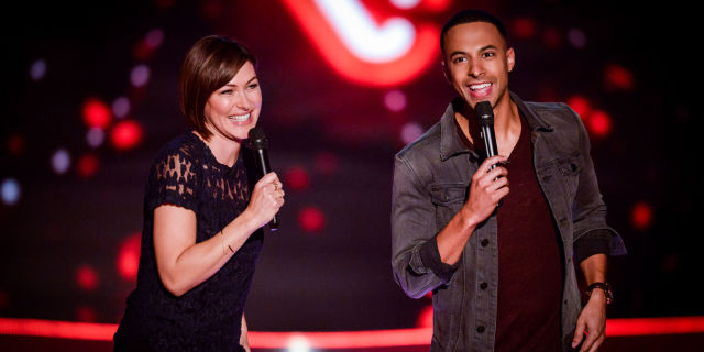 Emma Willis and Marvin Humes on The Voice UK