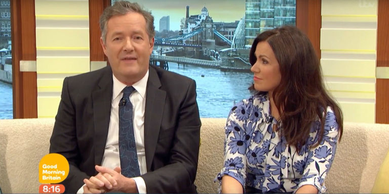 Piers Morgan on Good Morning Britain, January 24 2017, with Susanna Reid