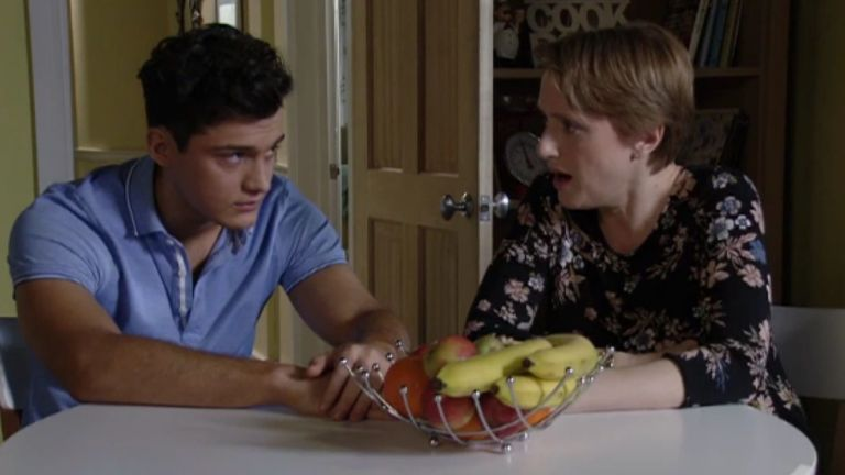 Preston and Michelle in EastEnders
