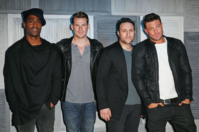 Blue's Simon Webbe, Lee Ryan, Antony Costa, Duncan Jame