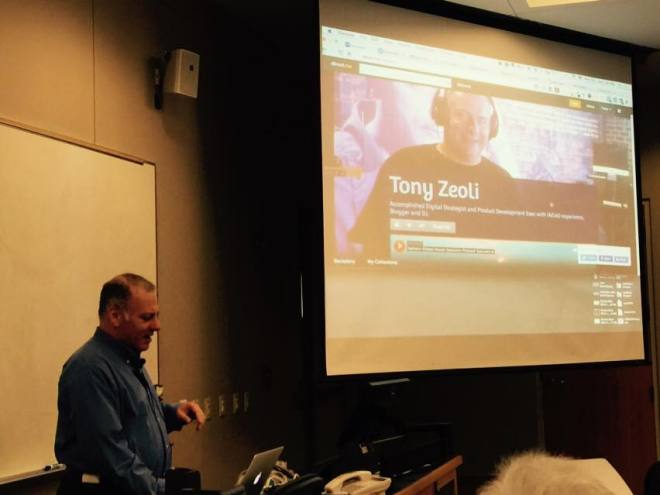 Tony Zeoli presenting at WordCamp Raleigh 2014