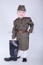 0554. Военный костюм для девочек