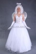 1317. Рождественский ангел с серебристыми крыльями