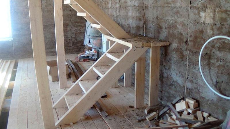 Лестница своими руками самая простая 12