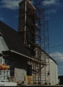 SOLAR TOWER UNDER CONSTRUCTION