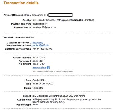 Pembayaran dari Adf.Ly
