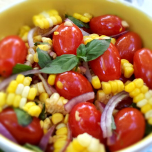 Candied Tomato & Sweet Corn Salad